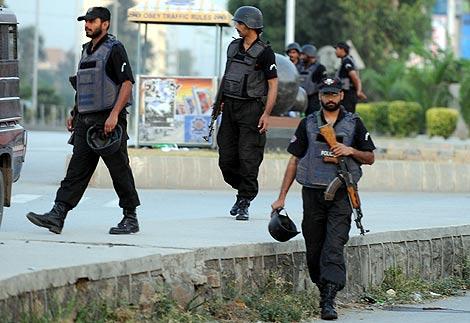 Las fuerzas de seguridad, en la zona del suceso. | Afp