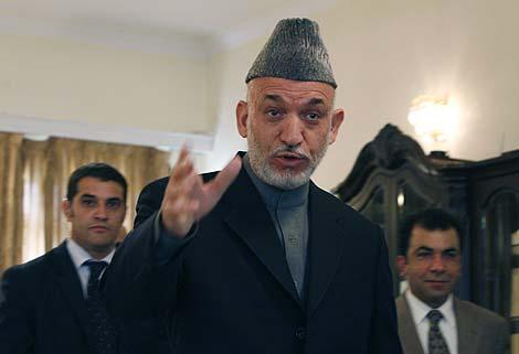 El presidente afgano, Hamid Karzai, en Kabul. | AP