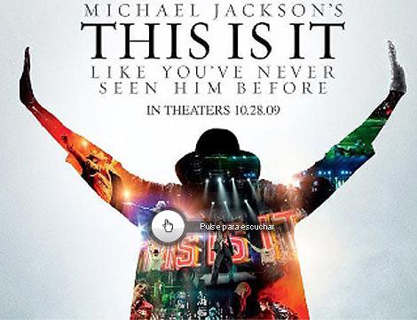 Cartel de la película de Michael Jackson 'This is it'. | Afp
