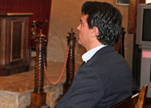 Javier Rodrigo de Santos en la sala de juicio | C. Cladera