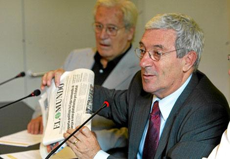 Jordi Porta, presidente de Òmnium, durante un acto en 2005 | D. Umbert