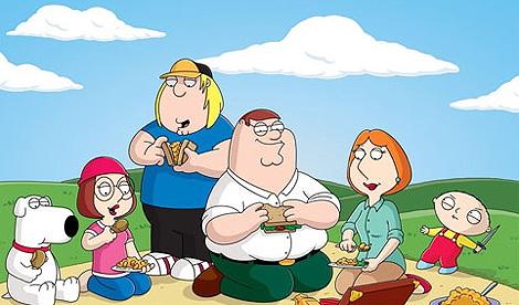 Los Griffin, personajes de 'Padre de familia'.
