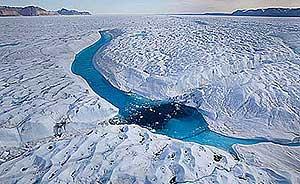 Glaciar Petermann en Groenlandia. (Greenpeace).