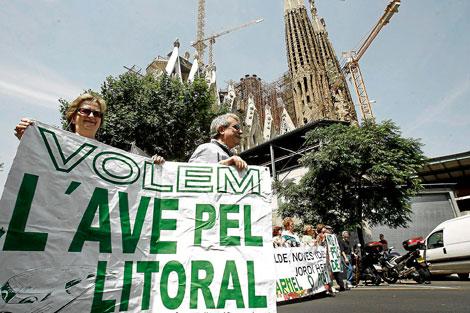 Protesta contra la construcción del túnel bajo la Sagrada Familia | S. Cogolludo