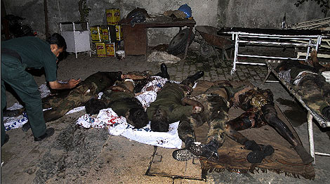 Cadáveres de fallecidos en un ataque a Rawalpind hace días. | Reuters