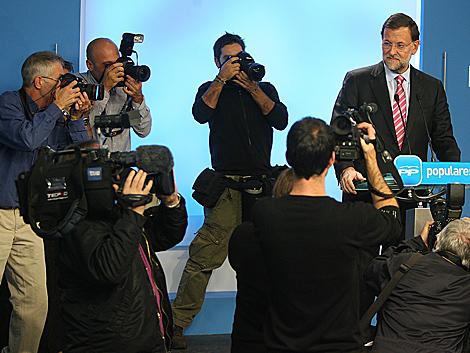 Gran expectación antes de la comparecencia de Rajoy. | Alberto Cuéllar