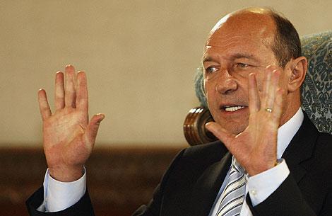 El presidente rumano, Traian Basescu, en Bucarest. | AP