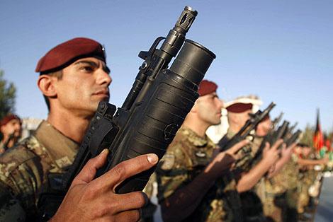 Militares italianos desplegados en la provincia afgana de Herat. | AP
