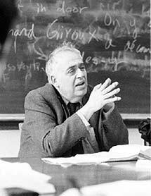 El profesor Harold Bloom