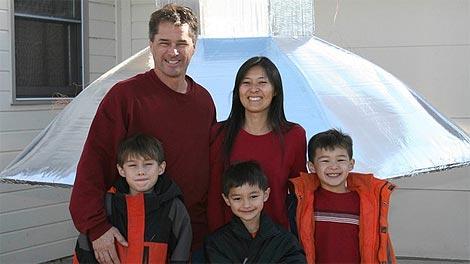 El matrimonio Heene con sus tres hijos, entre ellos Falcon, el niño desaperecido. | abc.go.com/