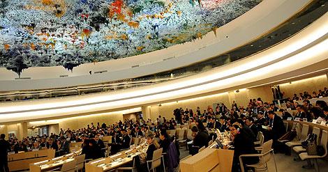Sesión especial del Consejo de Derechos Humanos de la ONU en Ginebra. | AFP