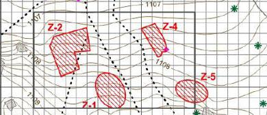 Localización de las posibles fosas tras el estudio con georradar. | Efe