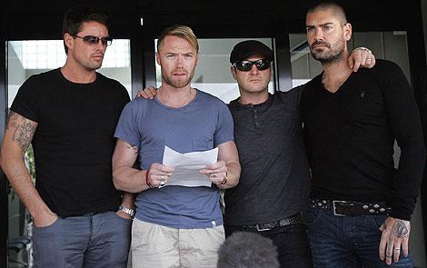 Los miembros de la banda irlandesa Boyzone | AP
