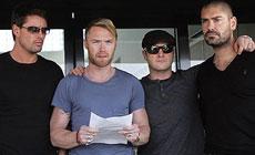Los miembros del grupo Boyzone.   AP