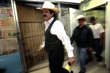 Zelaya, en la embajada brasileña en Honduras, donde permanece.   Reuters