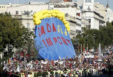 Imagen de la manifestación contra la nueva Ley del Aborto. | Efe