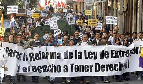 Imagen de la manifestación de Madrid. | Efe