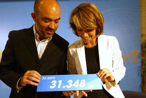 Nebrera, cuando fue presentada como la militantes 31.348 del PP catalán | D. Umbert