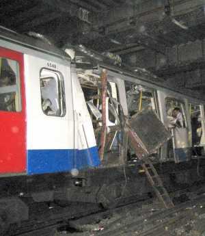 Uno de los vagones del metro de Londres tras los atentados del 7-J. (Foto: QP)