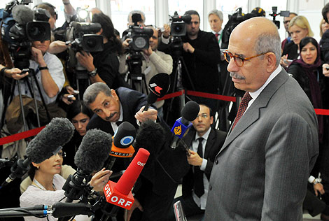El director general del OIEA, Mohamed el Baradei, este miércoles en Viena.   Afp