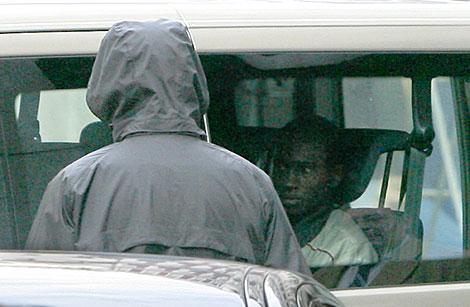 'Abdu Willy', a su llegada a la sede de la Fiscalía de Menores.   Alberto Di Lolli