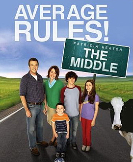 Cartel promocional de la serie. 'The middle'
