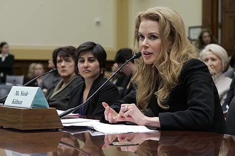 La actriz Nicole Kidman, durante su comparecencia. | Ap