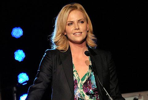 La actriz, durante la gala. | AFP