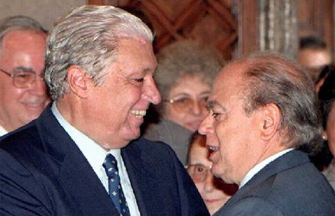 Alavedra junto a Pujol en 1997.   Efe