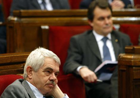 Maragall y Mas, en el pleno del Parlament en el que surgió el polémico 3%. | Domènec Umbert