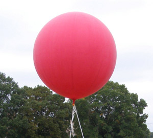 Así serán los globos.