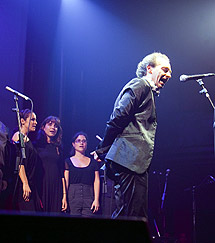 Duquende, en su actuación con el Taller de Músics de Barcelona. ! EXGAE/ E. B.