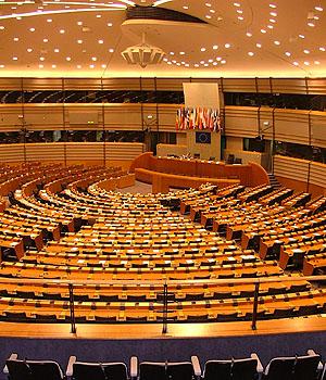 El hemiciclo del Parlamento Europeo. | Alina Zienowicz