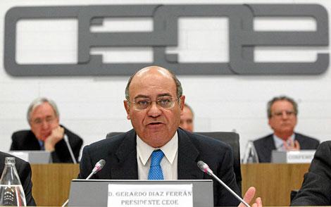 El presidente de la CEOE, Gerardo Díaz Ferrán. | Juan Lázaro