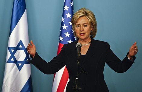 La secretaria de Estado de EEUU, Hillary Clinton, en Jerusalén. | Efe