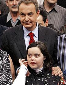 Izaskun con Zapatero.
