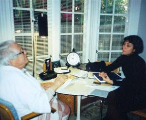 Joaquín Nin, junto a Wendy Guerra, en su casa Oakland. | W. G.