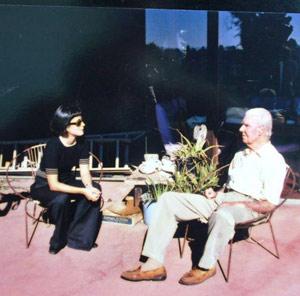 Wendy Guerra y Rupert Pol viudo de Anaïs Nin, Los Angeles. | W. G.
