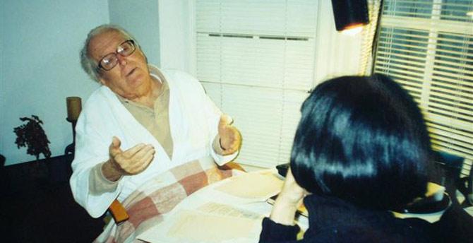 Wendy Guerra entrevistando a Joaquín Nin. | W. G.