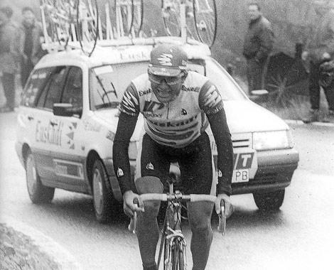 Agustín Sagasti, escapado del pelotón el día de su triunfo en 1994. | E. M.