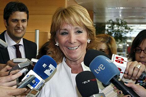 Esperanza Aguirre, presidenta de la Comunidad de Madrid. | Efe
