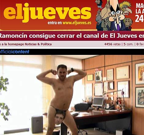 Vídeo recogido en la página web de 'El jueves'.
