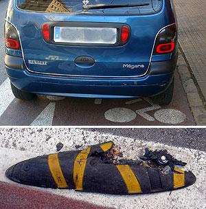 Un coche aparcado en el carril bici | M.P.