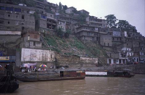 Población de Wushan, en la provincia china de Chongqing, a orillas del Yangtsé. | Doris Antony.