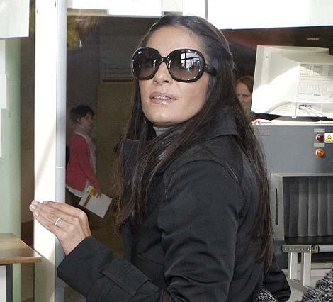 Violeta Santander, a su llegada a los juzgados. (Efe)