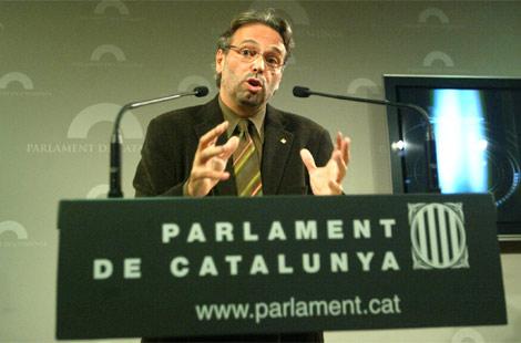 El presidente del Parlament. Ernest Benach.   Quique García