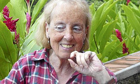 Catalina Montes, en plena selva de Morazán. | Lola Leonardo