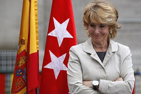 Esperanza Aguirre, en un acto reciente en Madrid. | Sergio González
