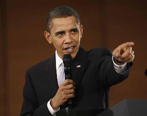 El presidente Barack Obama durante su interlocución en China | AP