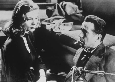 Lauren Bacall y Humphrey Bogart en 'El sueño eterno'.